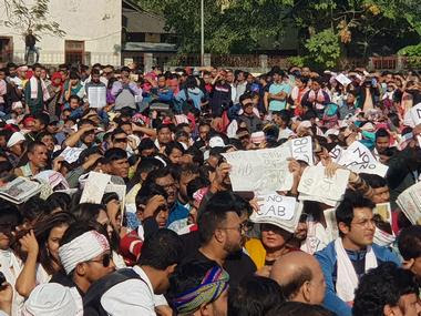 AASU supporters protes against the amended Citizenship Act in Guwahati. Firstost