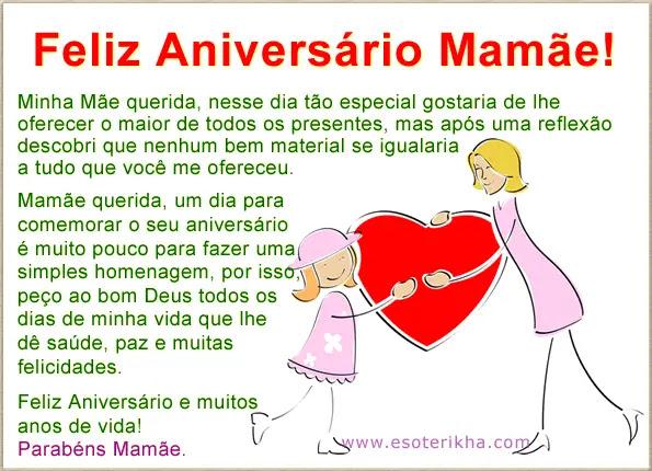 Feliz Aniversário Dos Filhos Para Mãe Mensagens Cultura Mix