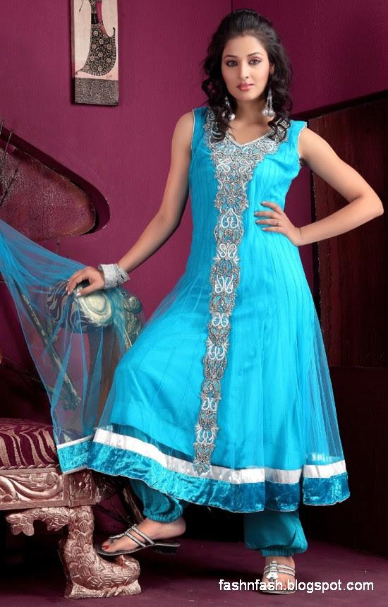 Anarkali Umbrella Fancy Frocks-Indian-Pakistani New Latest Dress Designs Collection 2013-1