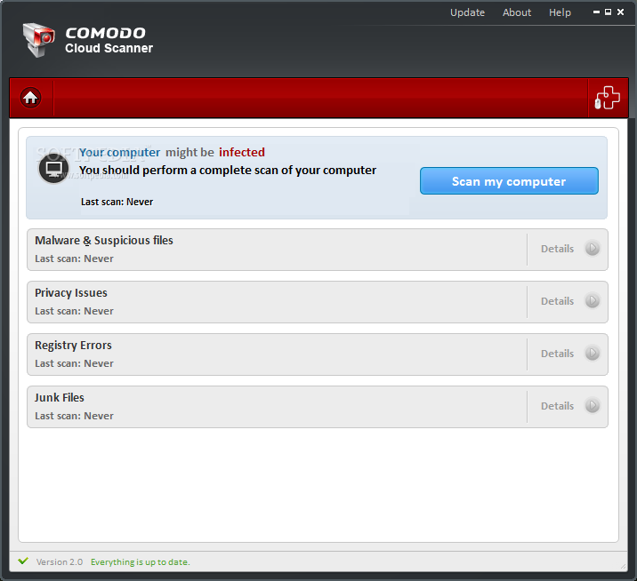 COMODO CLOUD SCANNER : RIMUOVERE VIRUS DAL PC
