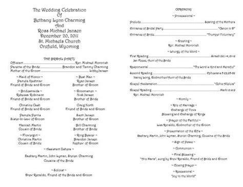 Creative Wedding Programs   Catholic wedding, Program