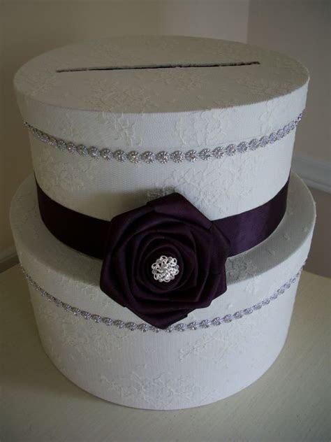 Lace and Rhinestone Round DIY Cardbox   Weddingbee Photo