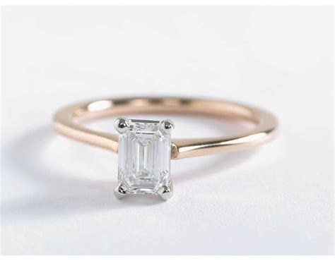 Petite Solitaire Engagement Ring in 14k Rose Gold   Ring