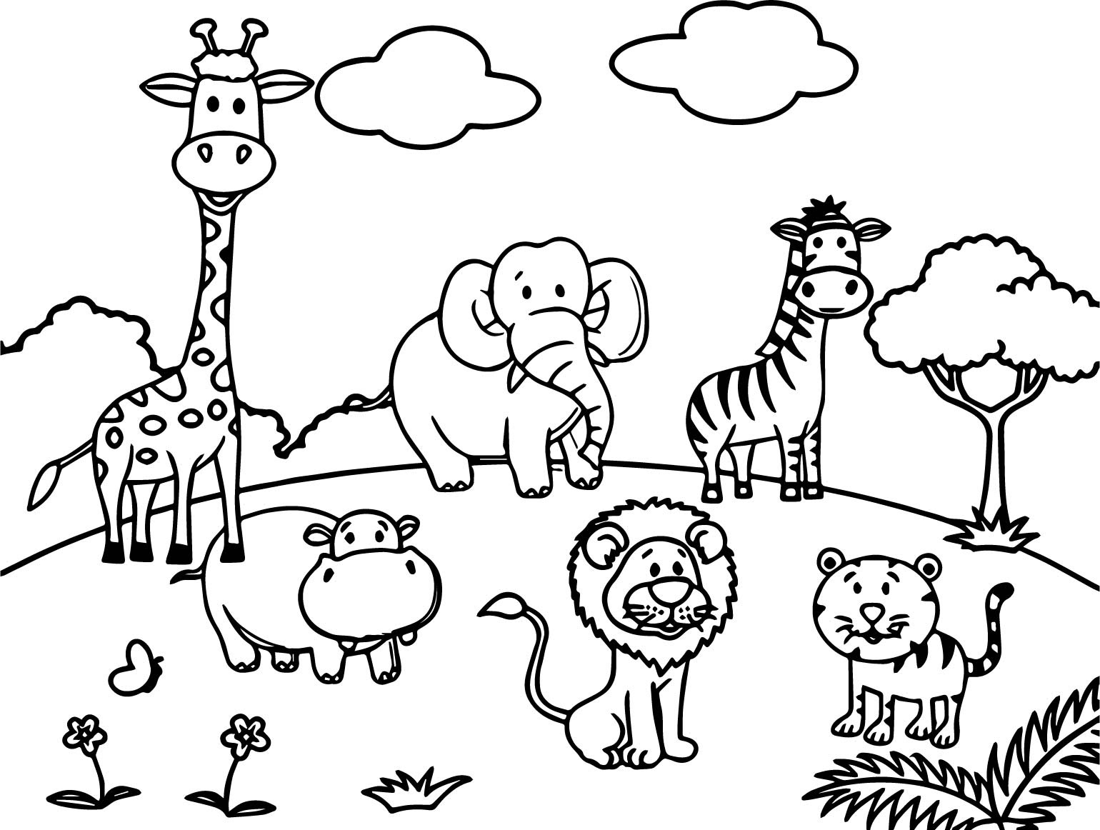 Jungle Animals Worksheet Activity sheet Color 5 - Coloring Pages
