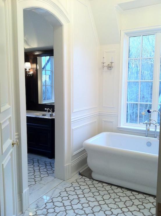 Trellis Tiles - Transitional - bathroom - The Enchanted Home