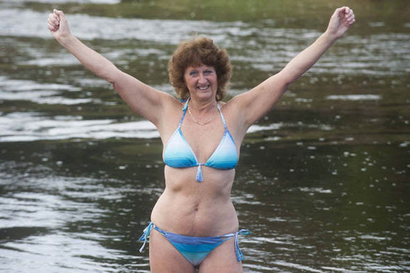 Ann Wheeler bikini hike