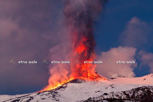 Lava Vs Snow - Etna,19° Parossismo by Marco Restivo