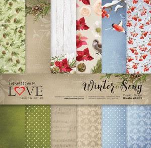 Zestaw papierów 30x30 cm - Winter Song - Laserowe LOVE