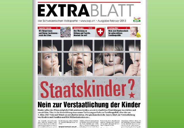 Keine Pflicht zur Wahrheit: Die SVP-Propagandapublikation «Extrablatt».
