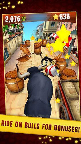 Screenshots of the Stampede run for Android tablet, phone.