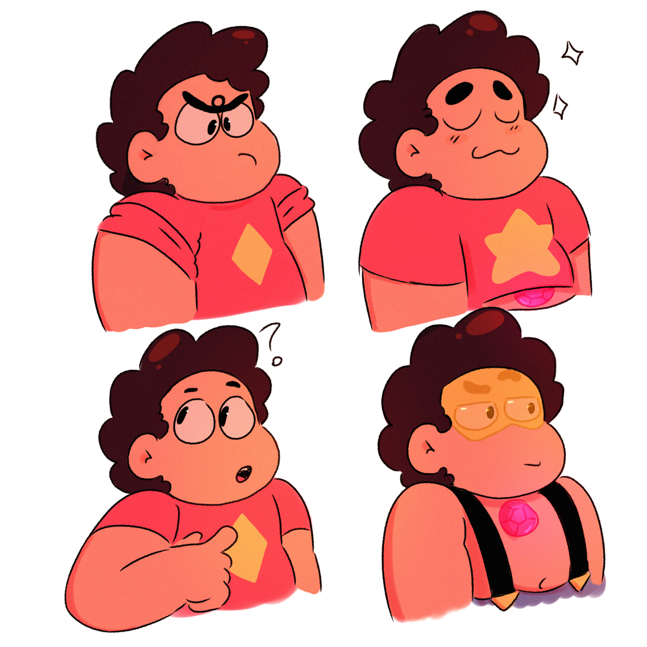 Multiple Stevens with the personality of the rubies. (Couldn't fit an eyeball Steven in)
