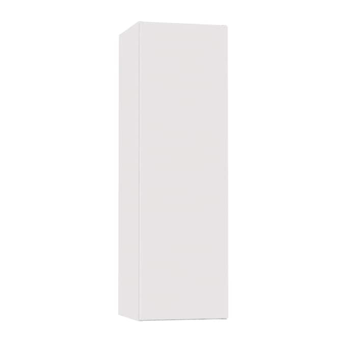 Hugo Borg London 12 In W X 39 In H X 12 75 In D London White Slab Engineered Wood Door Wall Stock Cabinet In The Stock Kitchen Cabinets Department At Lowes Com