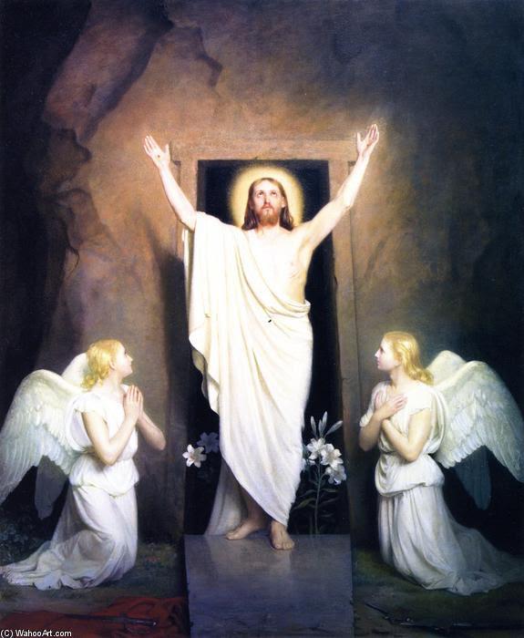 La Resurrezione, pittura di Carl Heinrich Bloch (1834-1890, Denmark)