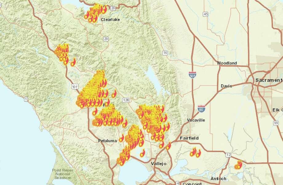 Fires raged across Northern California as firefighters battled back the Wine Country fires Monday night. Click here to see the latest fire locations. Photo: San Francisco Chronicle