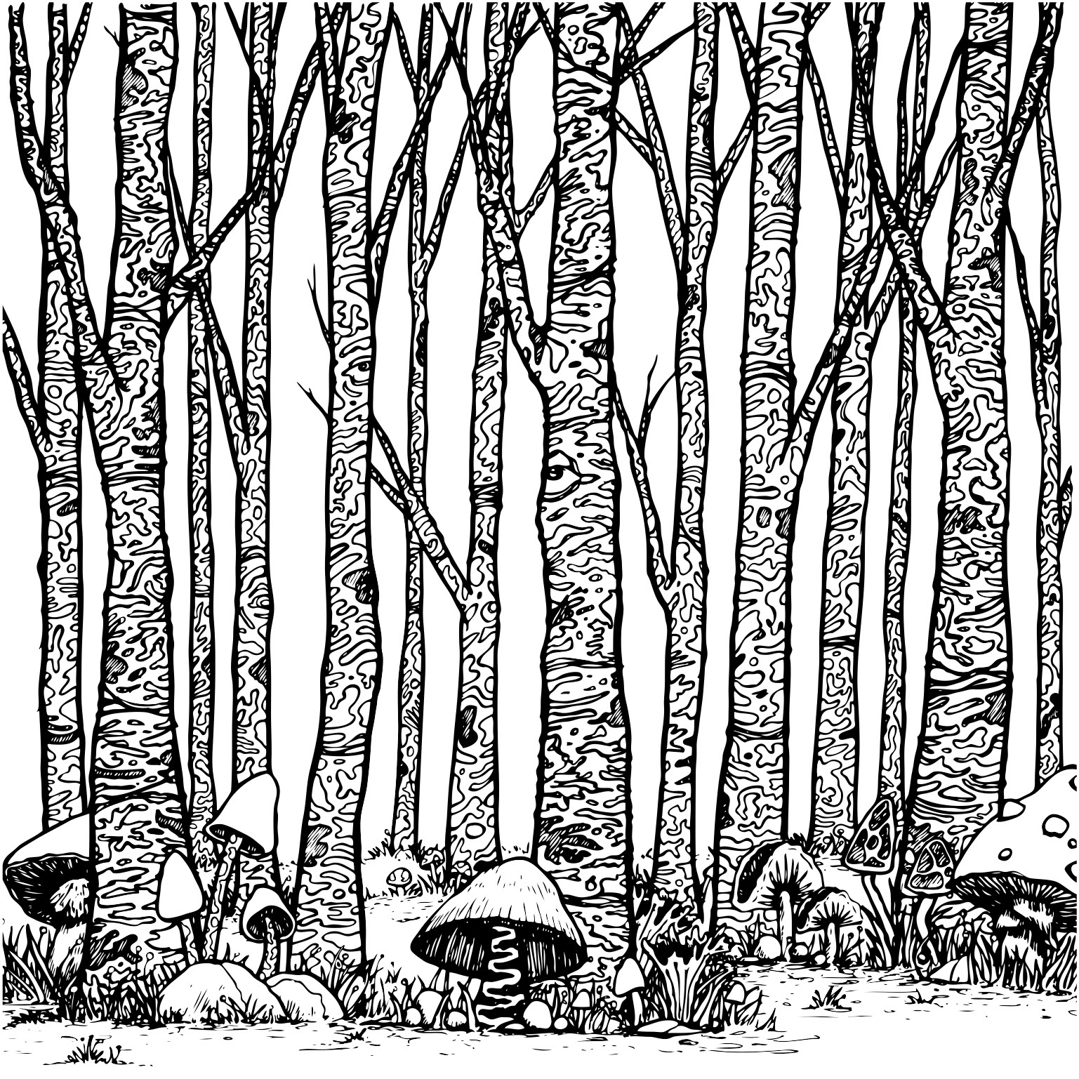 Art_20_trees and mushrooms