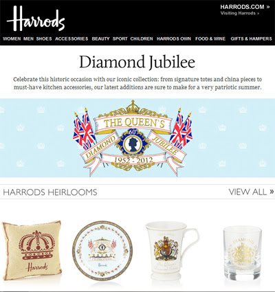 Harrods fetes Diamond Jubilee with product line, store ...