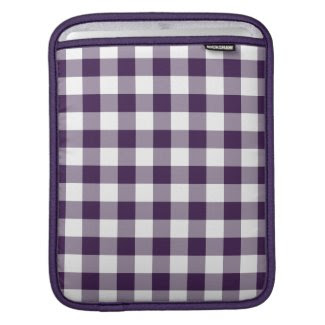 Purple and White Gingham Pattern rickshawsleeve