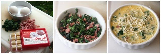 Spinach & Ham Quiche