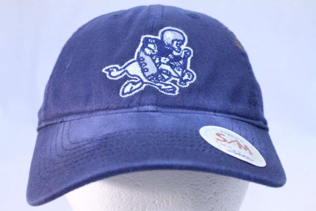 DALLAS COWBOYS NFL CLOSEOUT HAT CAP FLEX FIT SLOUCH NAVY RETRO LOGO  eBay
