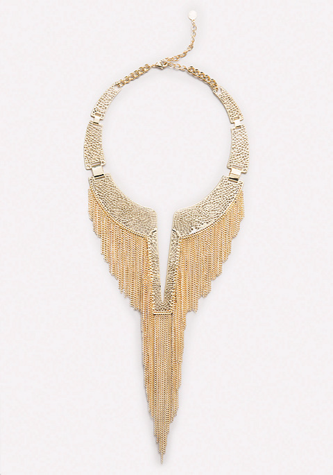 Bebe Fringed Collar Necklace