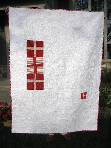 Back of Cross Quilt