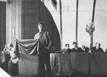 "Poet and activist Claude McKay addresses the Comintern in 1922 in Moscow. He was invited to Moscow in an effort to expand their work on the ""Negro Question.' by Pan-African News Wire File Photos"