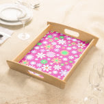 Pink Flower Power Serving Platters