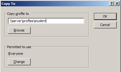 Accessing the User Profiles Settings