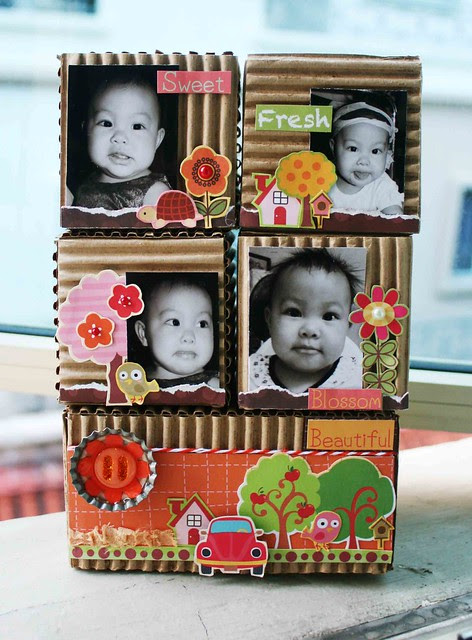 Photo blocks of Sophie