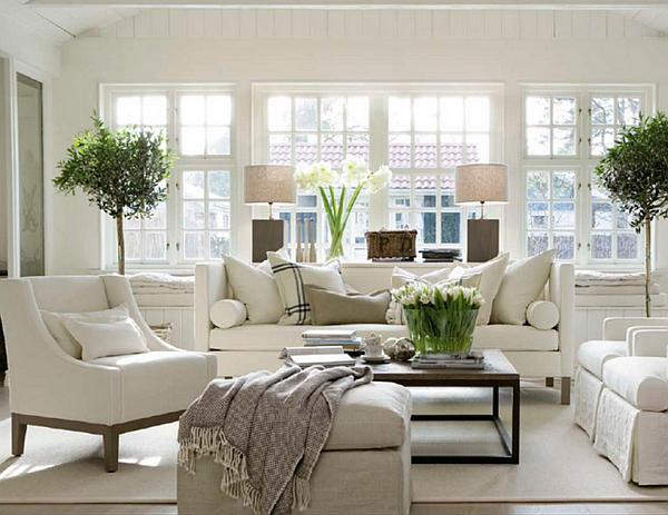 beautiful white living room design - Decoist