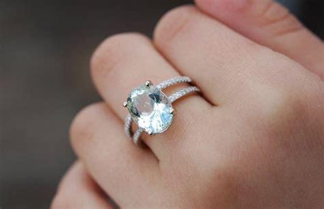 Blake Lively ring Aquamarine Engagement Ring oval cut 14k