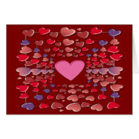 Valentines Colorful Candy Hearts Pattern Card