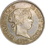 50 Centimos - Isabella II – obverse