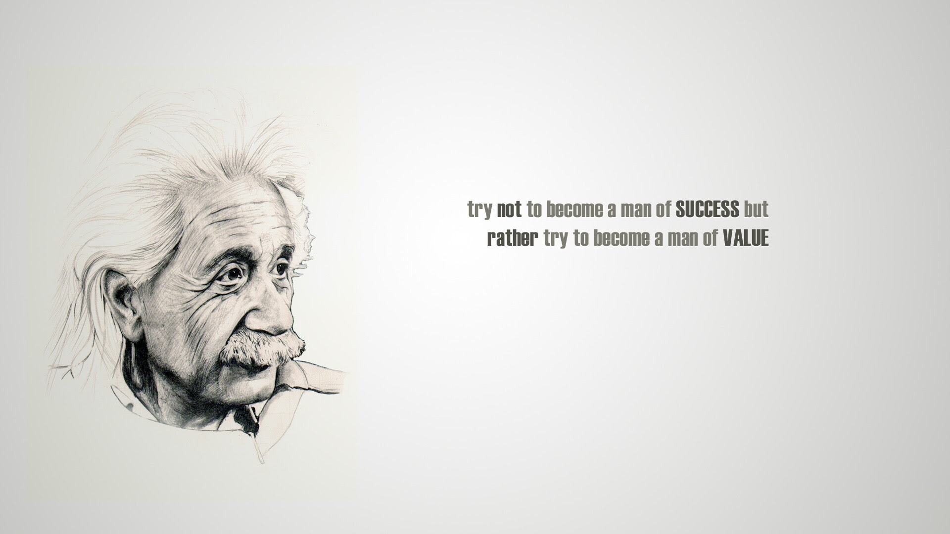 Albert Einstein Famous Quote On Success And Value Hd Wallpaper Hd