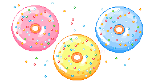 i am nowhere near a doughnut shop   🍩  🍩  🍩  so i drew them some instead?i can't say this helped