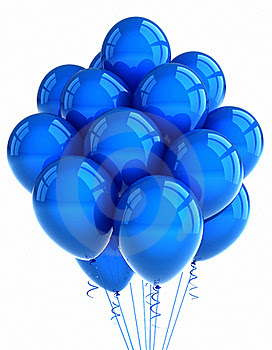 Blue party ballooons