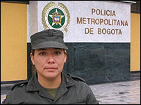Teniente Andrea Rojas, Policía Nacional de Colombia