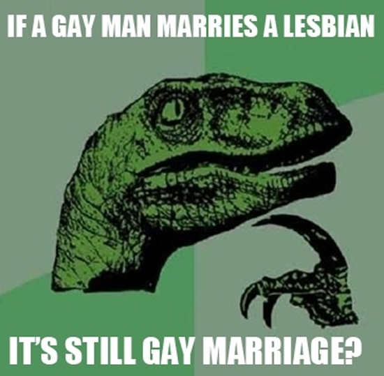 Philosoraptor Gay Marriage Funny Pictures Quotes Pics Photos