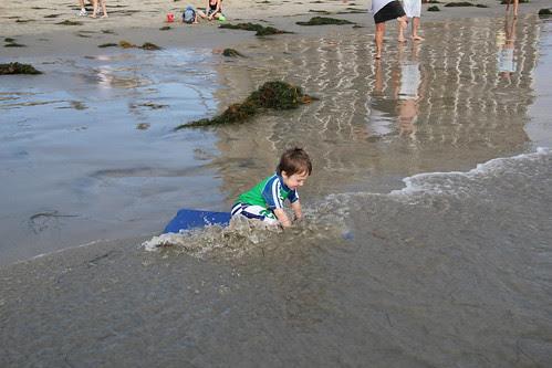 Olsen tackles a wave