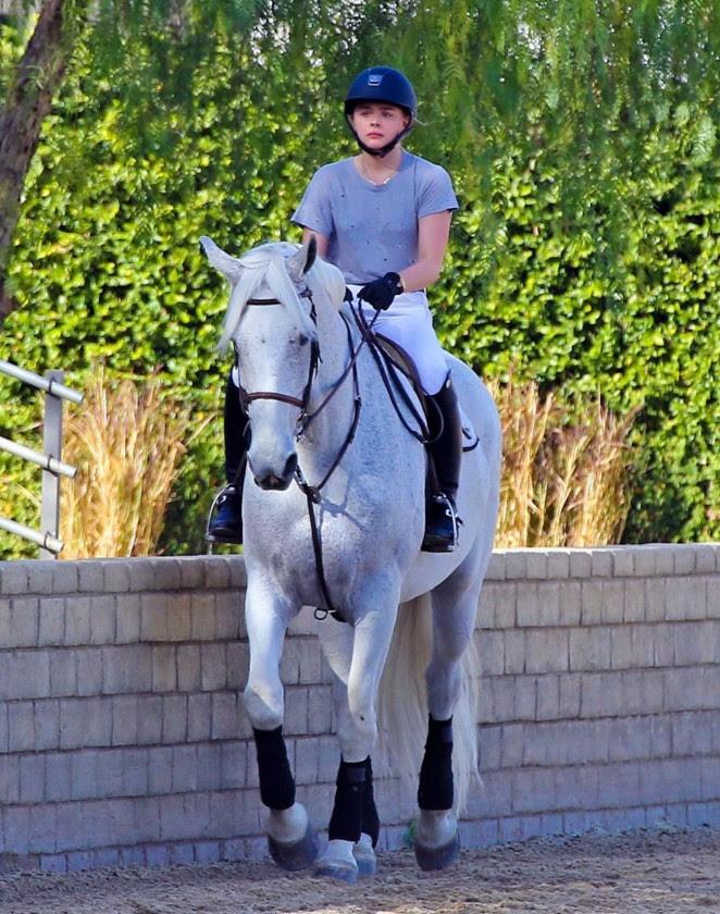 Chloe Moretz: Riding a Horse -12