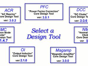 Các chương trình tính toán Ferit nude Các công cụ thiết kế lõi DC Choke (DCC)