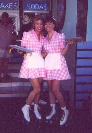 rollerblades waitress   waitress outfit waitress