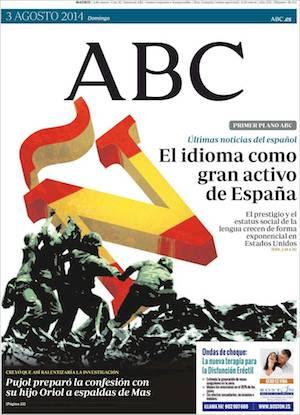 "portada abc es El idioma español, último ""conquistador"" de América"