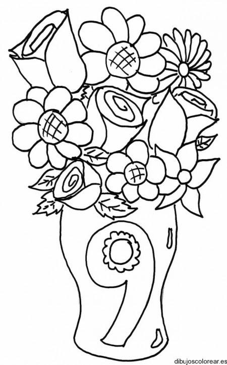 Dibujo Del Número 9 En Un Florero