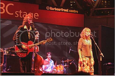 Travis and Dallas' mom singing with the band: photo by Mike Ligon