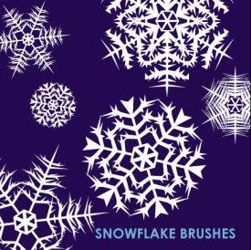 Snowflake Illustrator Brushes