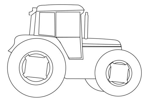 Coloriage Tracteur Agricole Coloriages à Imprimer Gratuits