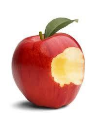 Halvätet äpple