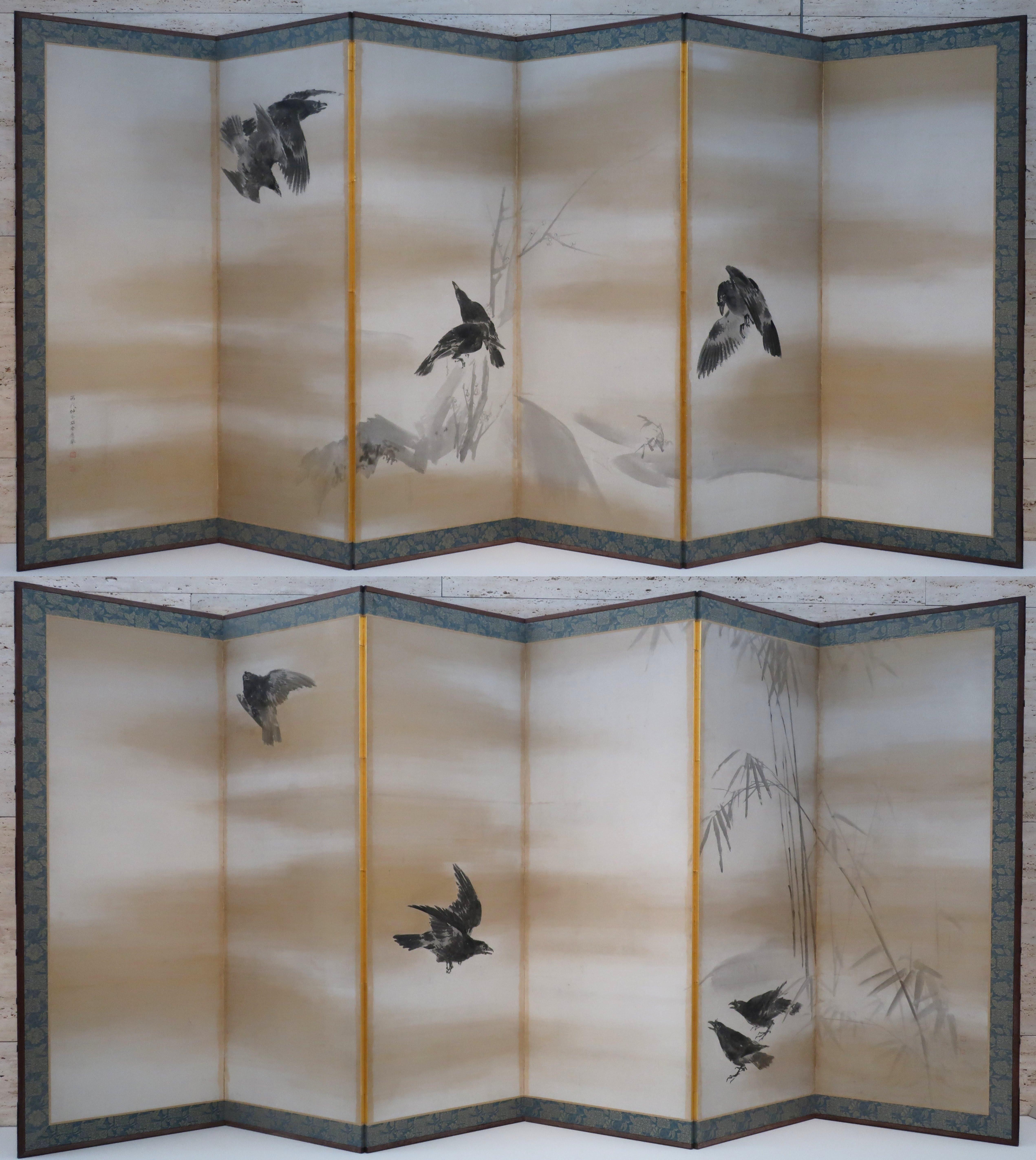 'Crows' by Maruyama Okyo
