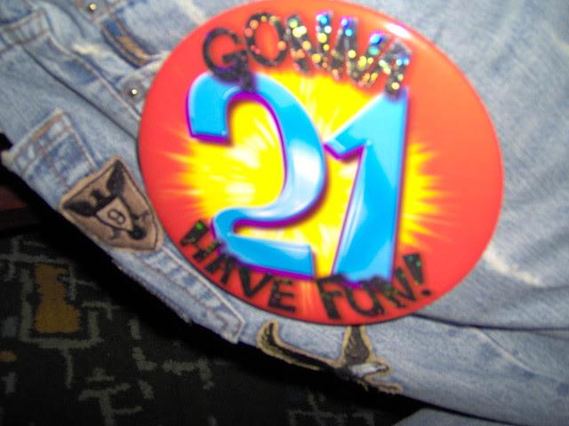 21st Birthday Badge